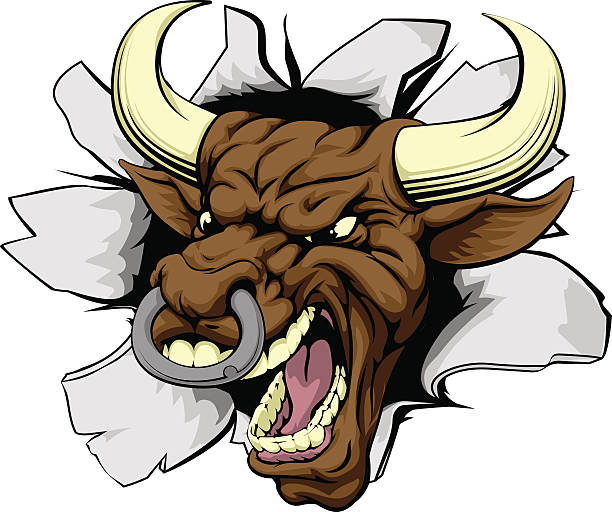 Angry Bull Illustrations, Royalty-Free Vector Graphics