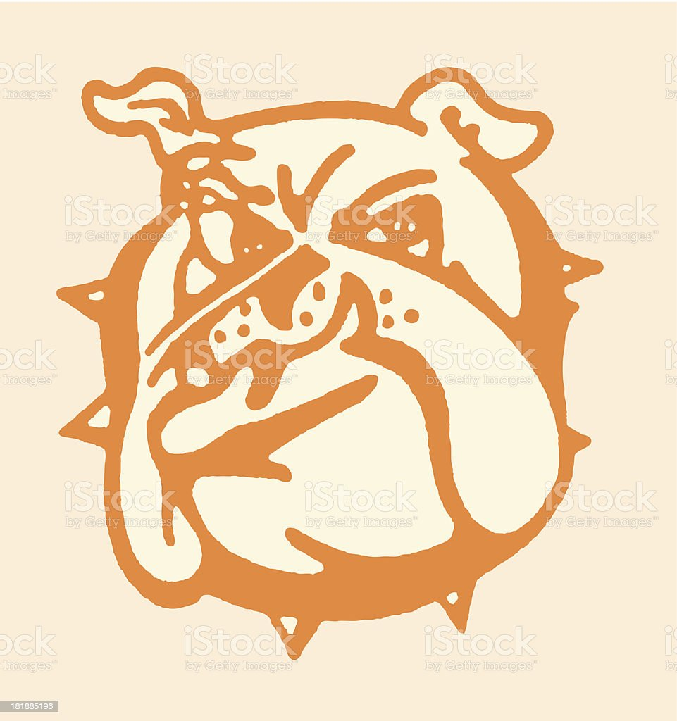 Mean Bulldog royalty-free stock vector art