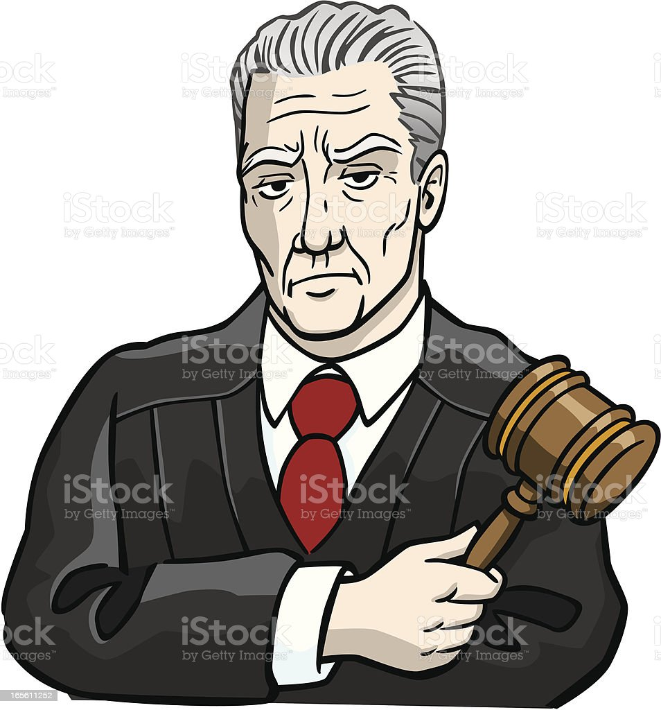 Mean Judge royalty-free stock vector art
