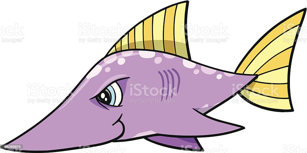 Mean Purple Swordfish royalty-free mean purple swordfish stock vector art & more images of animal