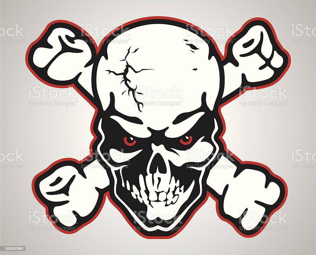 mean_skull royalty-free stock vector art