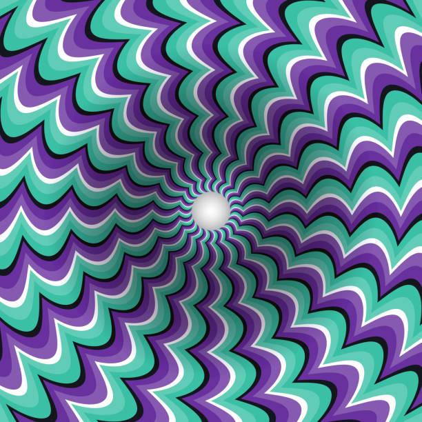 meandering strips rotating hole - surreal stock-grafiken, -clipart, -cartoons und -symbole