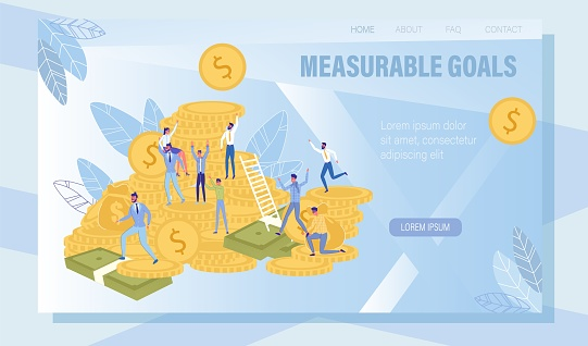 Measurable Goals Attainable Result Landing Page