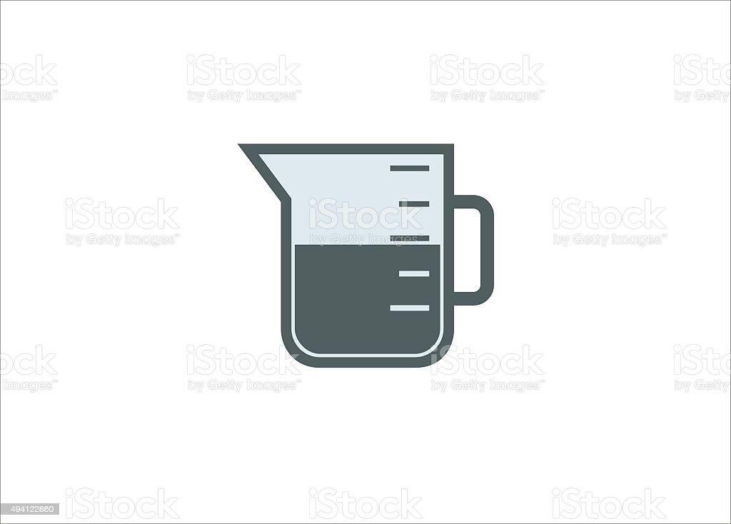 measure glass icon vector art illustration