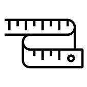 istock Measure Tape Line Icon, Outline Symbol Vector Illustration 1309817311