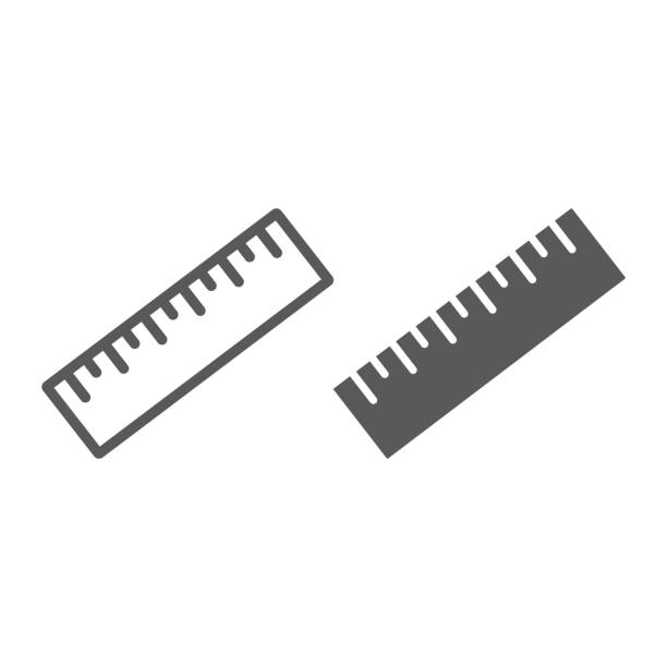 Measure tool line and glyph icon, tools and design, ruler sign, vector graphics, a linear pattern on a white background, eps 10. Measure tool line and glyph icon, tools and design, ruler sign, vector graphics, a linear pattern on a white background, eps 10. ruler stock illustrations