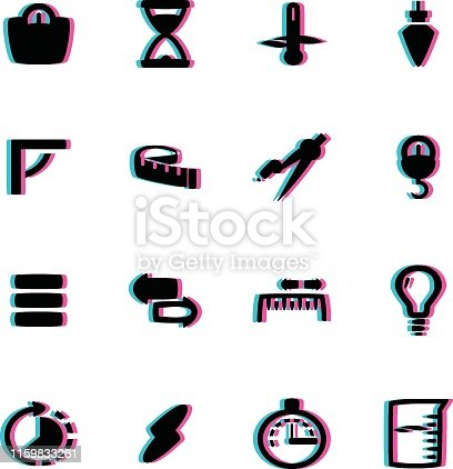 The vector files of measurement icon set.
