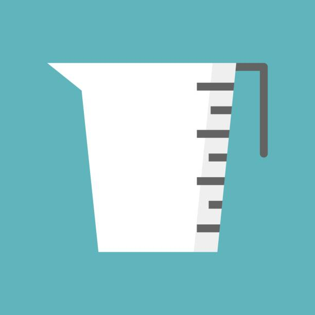 Measuring cup icon, Cooking equipment Flat design vector Measuring cup icon, Cooking equipment Flat design vector measuring cup stock illustrations