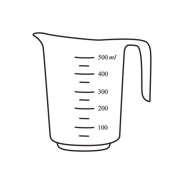 Measuring cup illustration Measuring cup. Vector dry measure stock illustrations