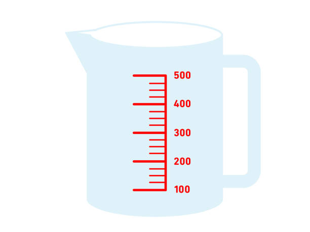 Measuring cup Measuring cup dry measure stock illustrations
