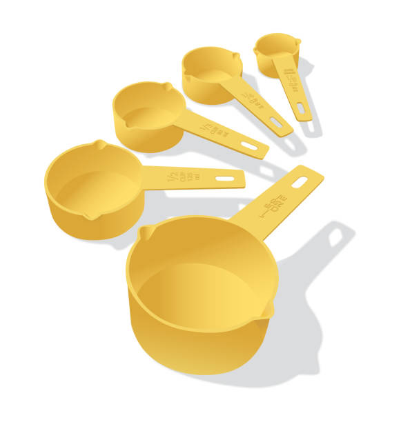 measuring cup A set of plastic measuring cups measuring cup stock illustrations