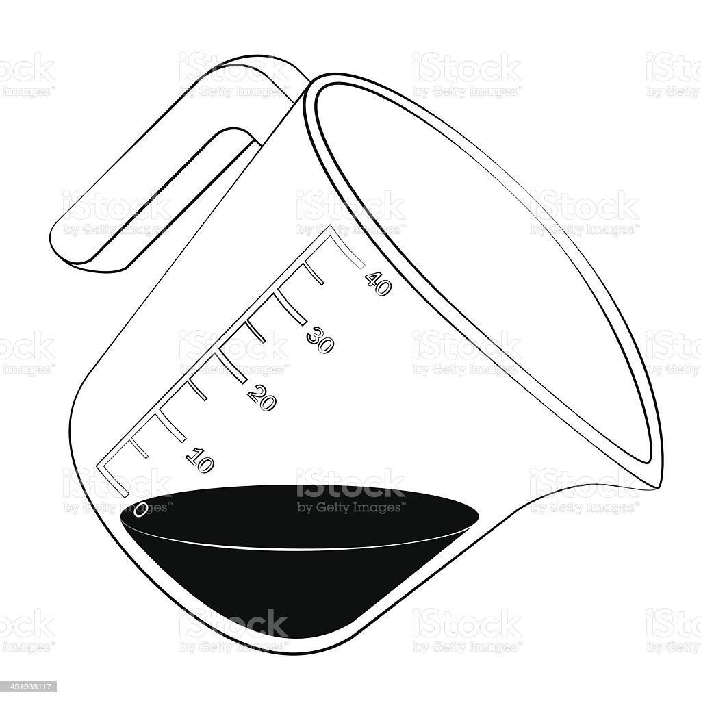 Measuring cup vector art illustration