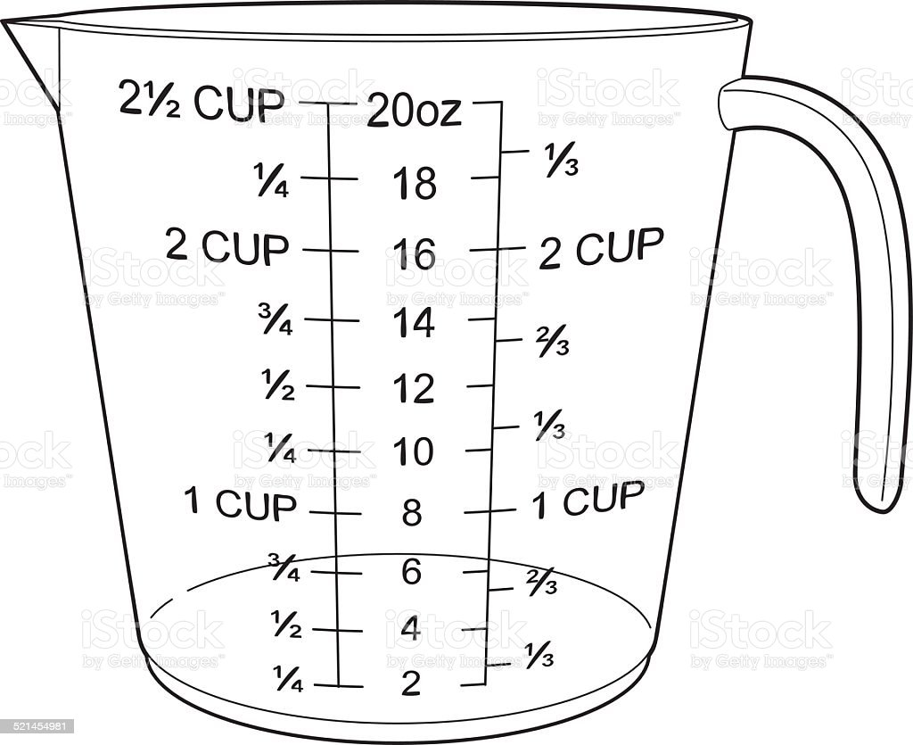 measuring cup stock vector art  u0026 more images of baking