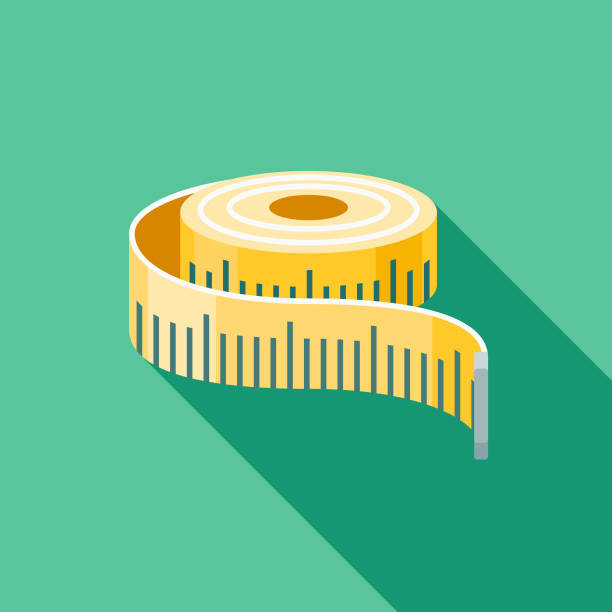 Measuring Flat Design Shipping Icon with Side Shadow A colored flat design shipping and mail delivery icon with a long side shadow. Color swatches are global so it's easy to edit and change the colors. instrument of measurement stock illustrations