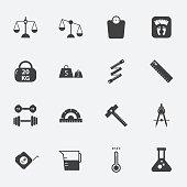 measuring icons set.vectorillustration.