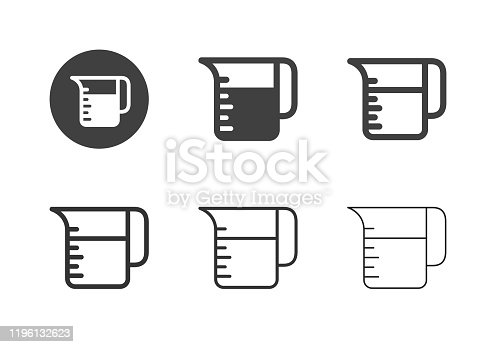 Measuring Jug Icons Multi Series Vector EPS File.