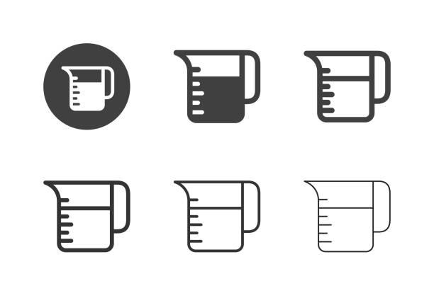 Measuring Jug Icons - Multi Series Measuring Jug Icons Multi Series Vector EPS File. measuring cup stock illustrations