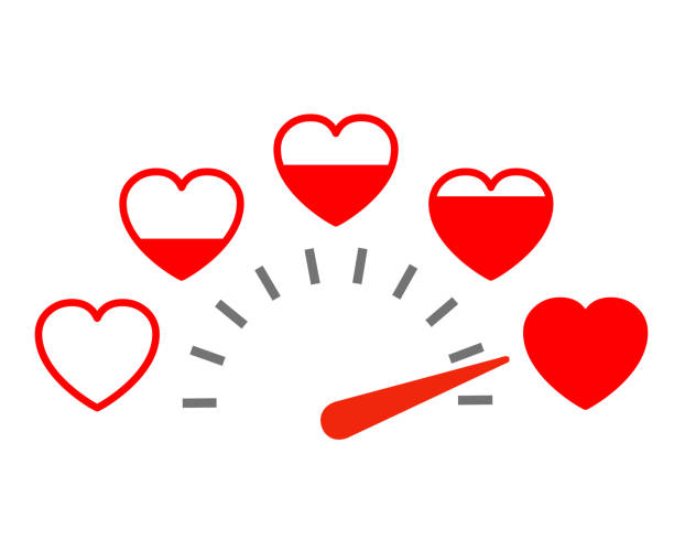 Measuring love icon. Valentine's Day card design element with set hearts – stock vector Measuring love icon. Valentine's Day card design element with set hearts – stock vector car love stock illustrations
