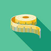 Measuring Tape Flat Design Fitness & Exercise Icon