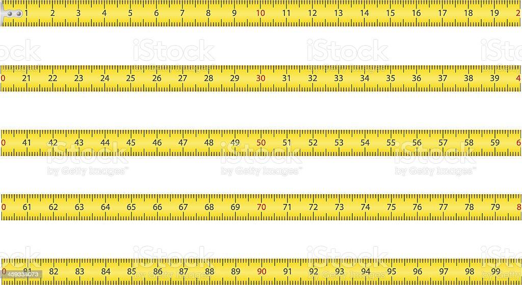 measuring tape for tool roulette vector illustration vector art illustration