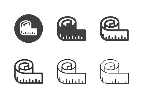 Measuring Tape Icons Multi Series Vector EPS File.