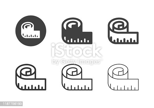 istock Measuring Tape Icons - Multi Series 1187756193