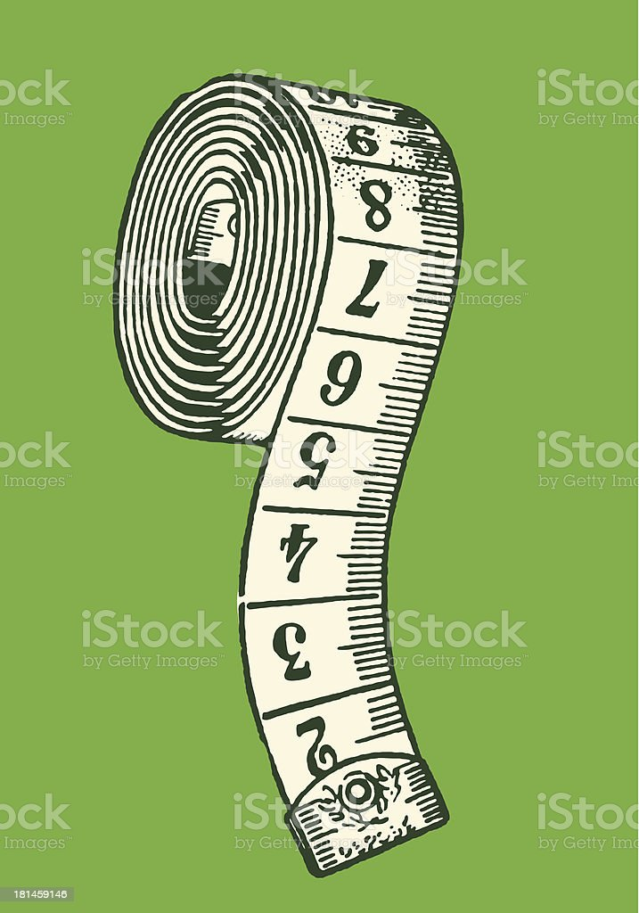 Measuring Tape vector art illustration