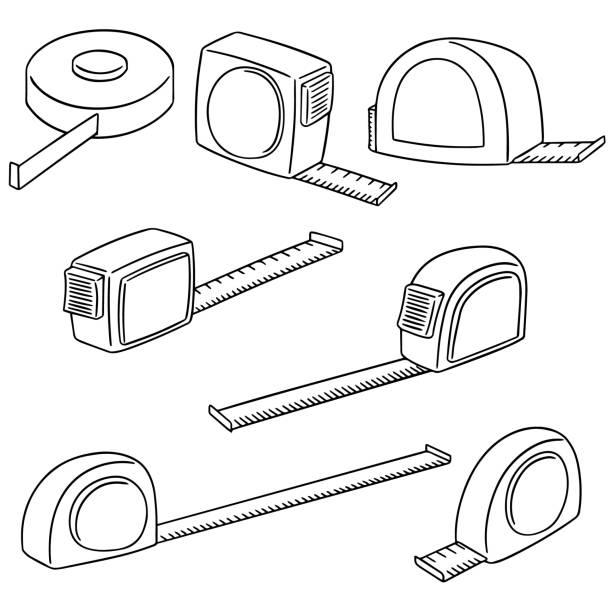 measuring tape – artystyczna grafika wektorowa