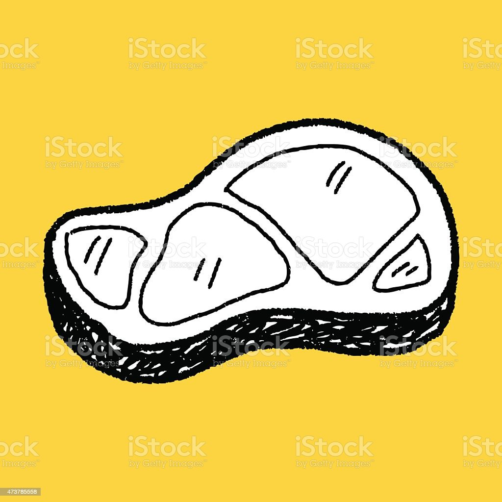 meat doodle vector art illustration