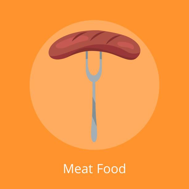 fleisch essen bratwurst traditionelle deutsche snacks - sauerkraut stock-grafiken, -clipart, -cartoons und -symbole