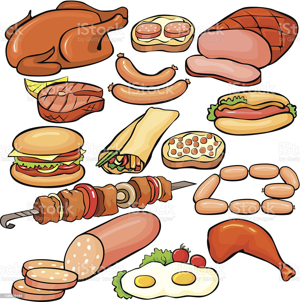 Meat products icon set royalty-free meat products icon set stock vector art & more images of baking