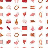 istock Meat Seamless Pattern 1262462481