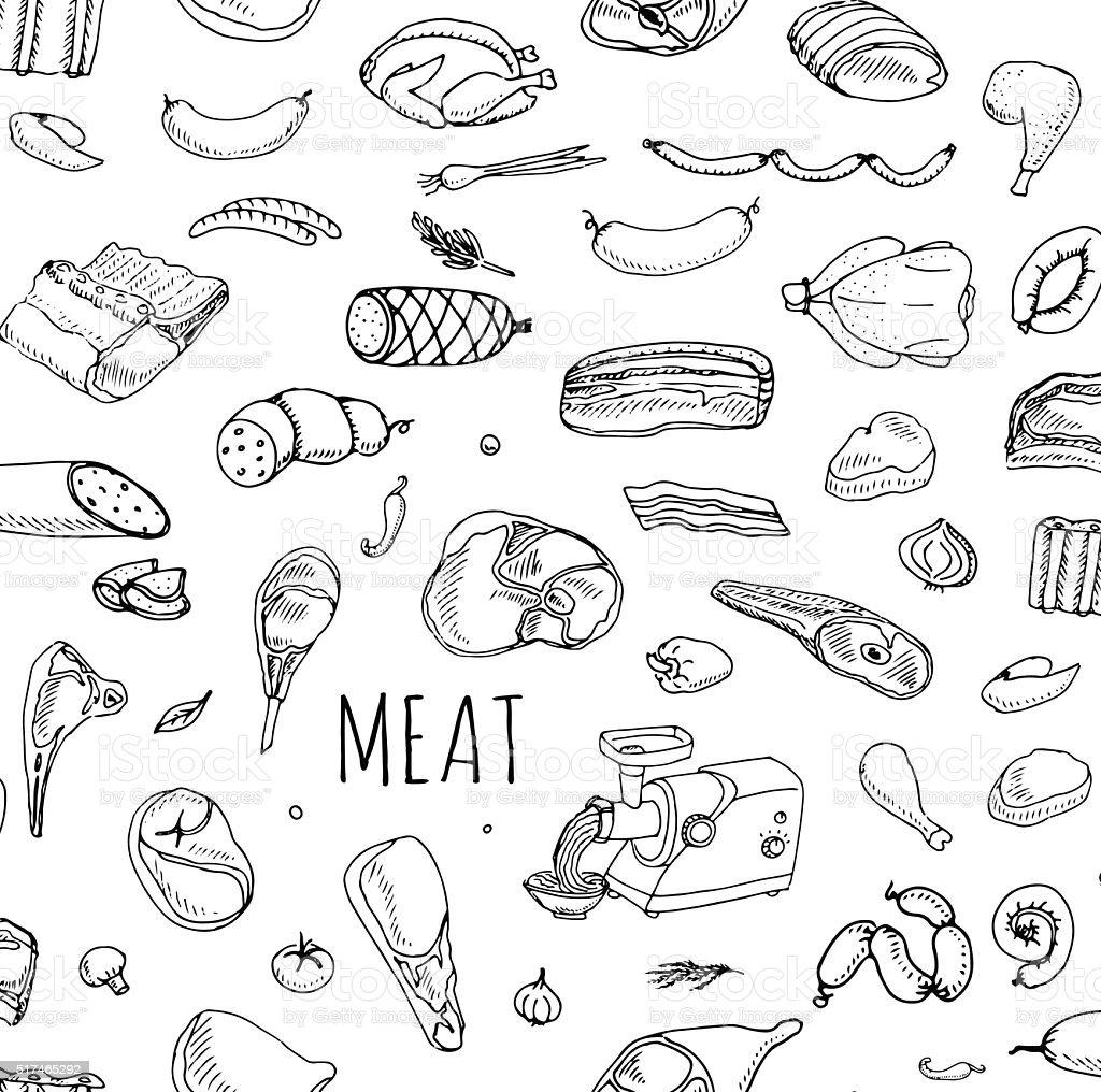 肉のセット ベクターアートイラスト