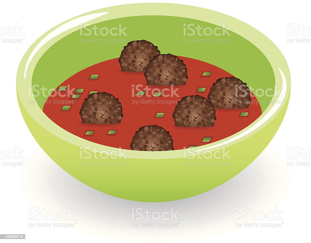 meatballs in tomato sauce royalty-free stock vector art