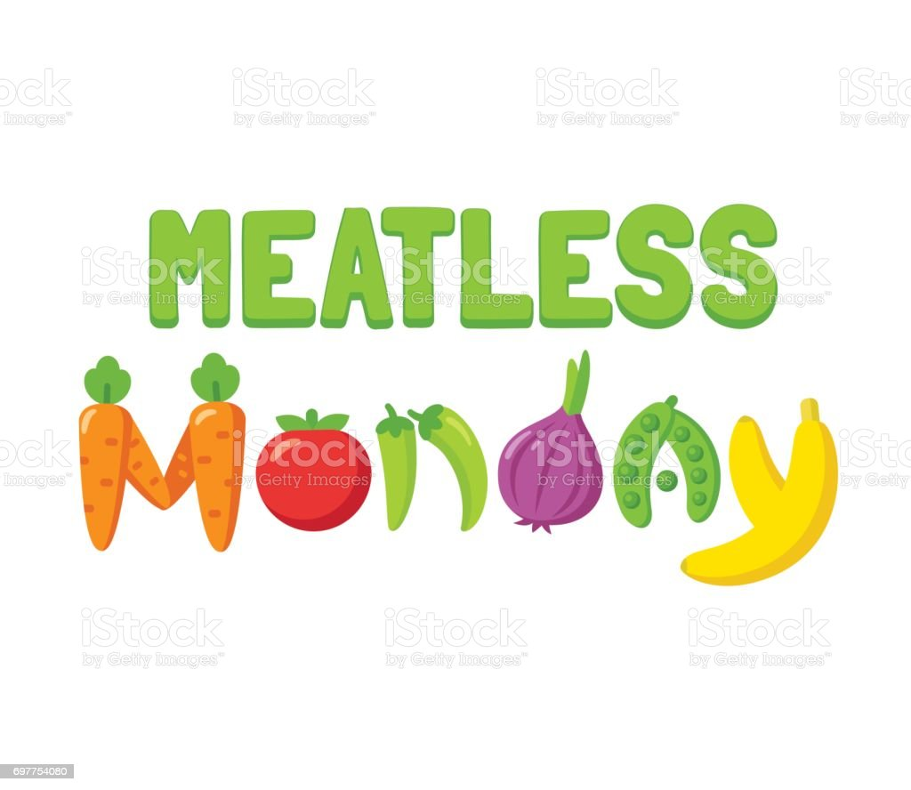 Meatless Monday banner vector art illustration