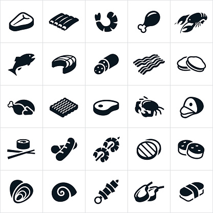 Meats and Seafood Icons