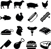Meats Icons - Black Series