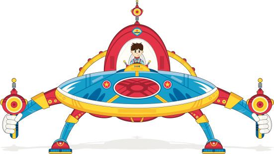 Mecha Flying Saucer
