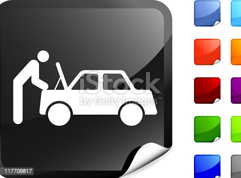 istock mechanic checking under the hood internet royalty free vector art 117709817