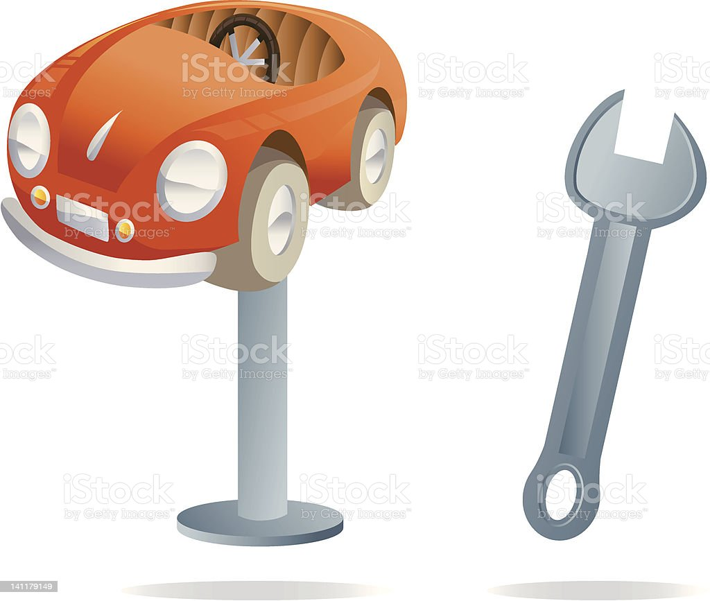 Mechanic icons royalty-free stock vector art