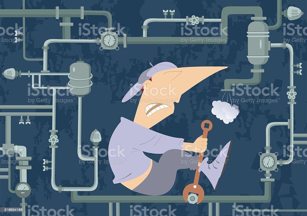 Mechanic Illustration vector art illustration