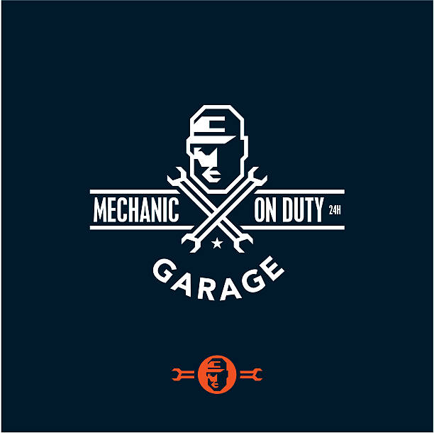 mechanic on duty, garage - mechanic stock illustrations, clip art, cartoons, & icons