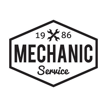 Mechanic service. Garage badge. Car repair logo