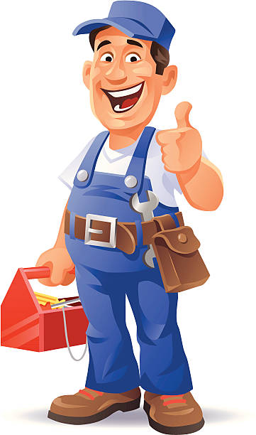 mechanic thumb up - mechanic stock illustrations, clip art, cartoons, & icons