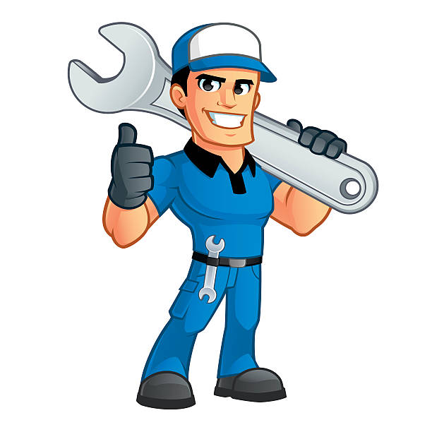 Royalty free car mechanic cartoon clip art vector images for Serrurier depannage