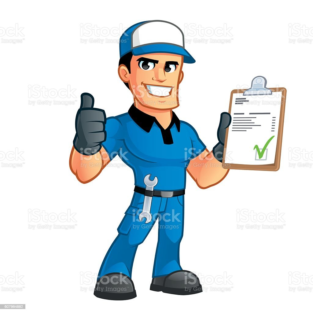 Mechanic vector art illustration