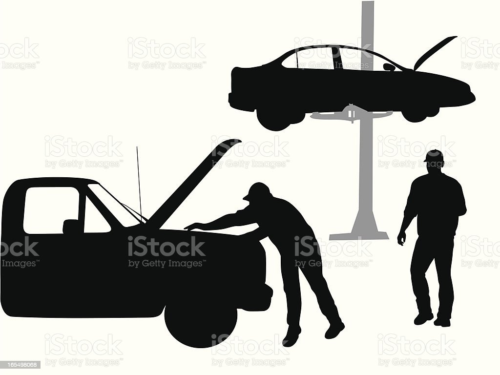 Mechanic Vector Silhouette vector art illustration