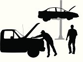 Mechanic Vector Silhouette