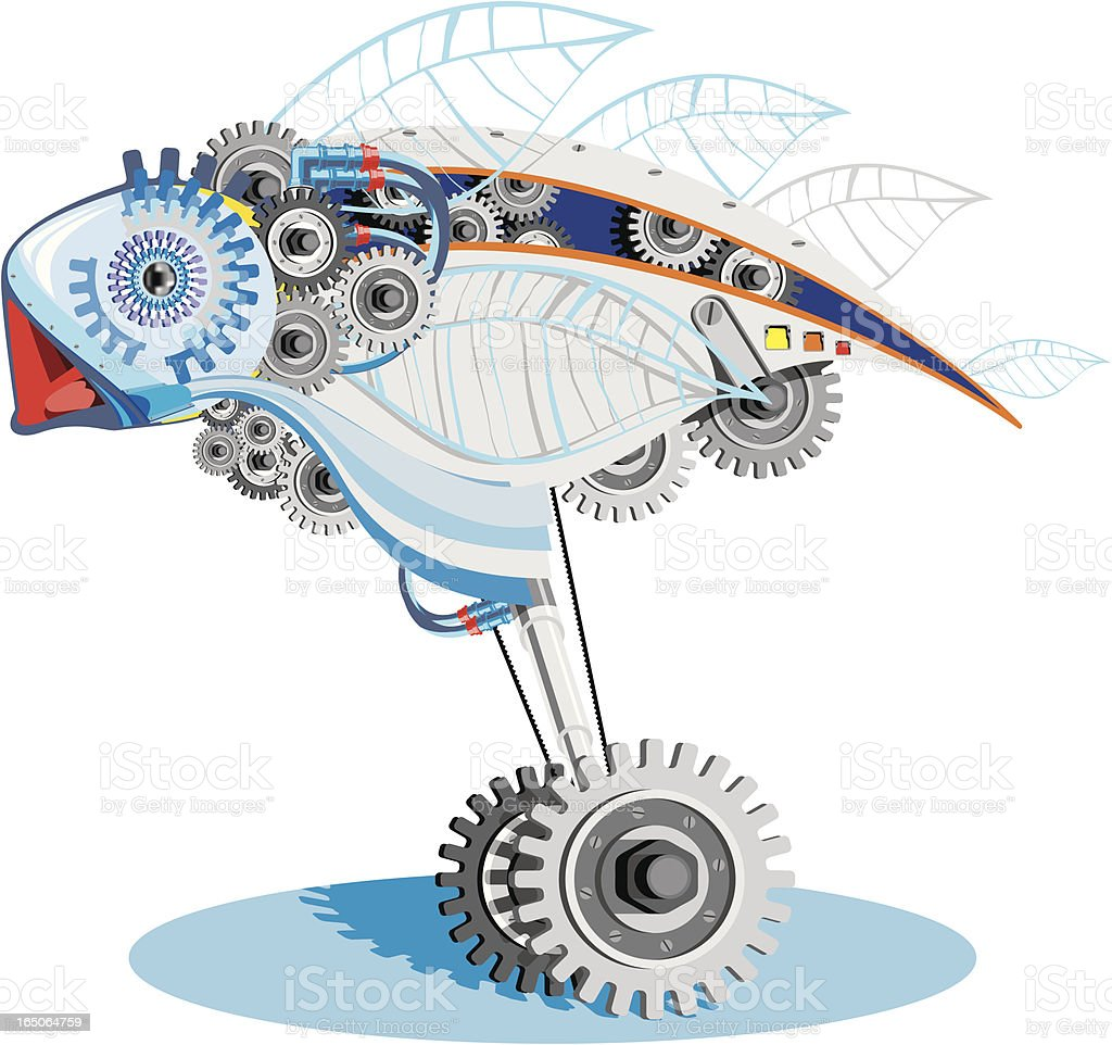 Mechanical Bird royalty-free mechanical bird stock vector art & more images of abstract