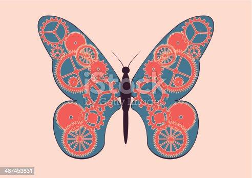 istock Mechanical butterfly 467453831